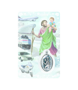 Medal card : Saint Christopher (french)