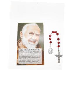 Dizainier Padre Pio et prière en 3 langues