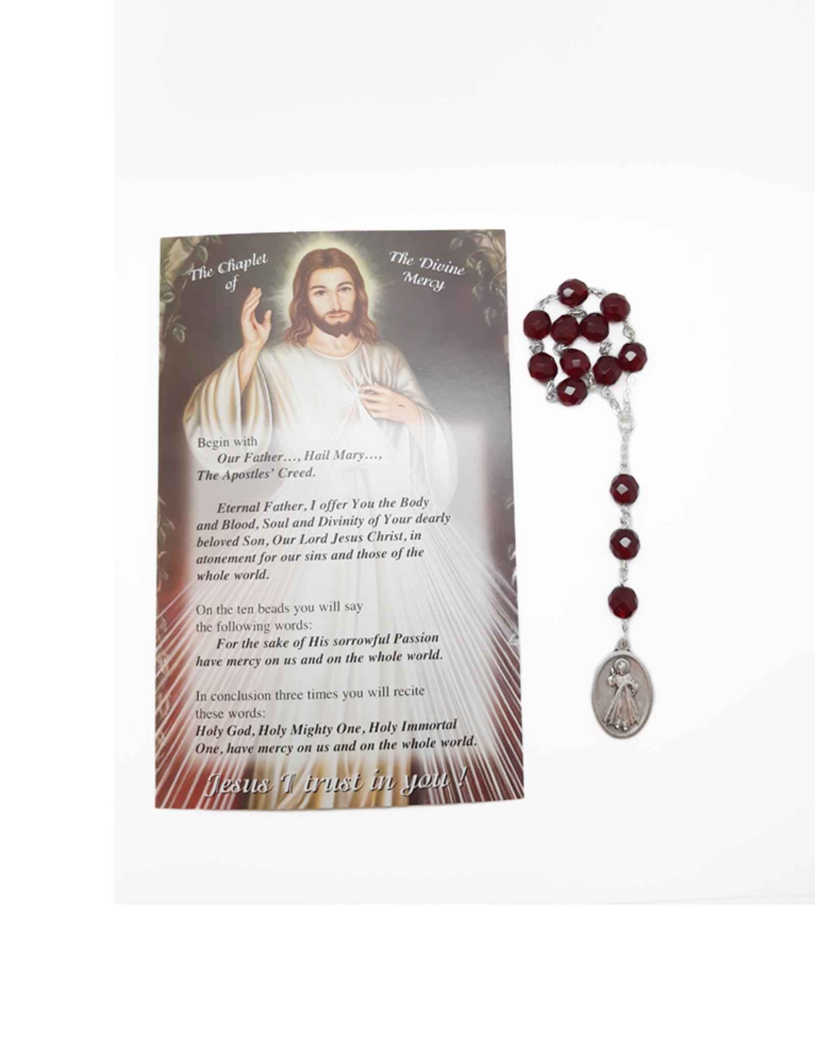 Dizainier Divine Miséricorde et prière en 3 langues