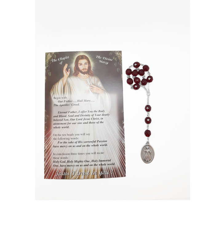 Divine Mercy decade rosary and prayer in 3 languages