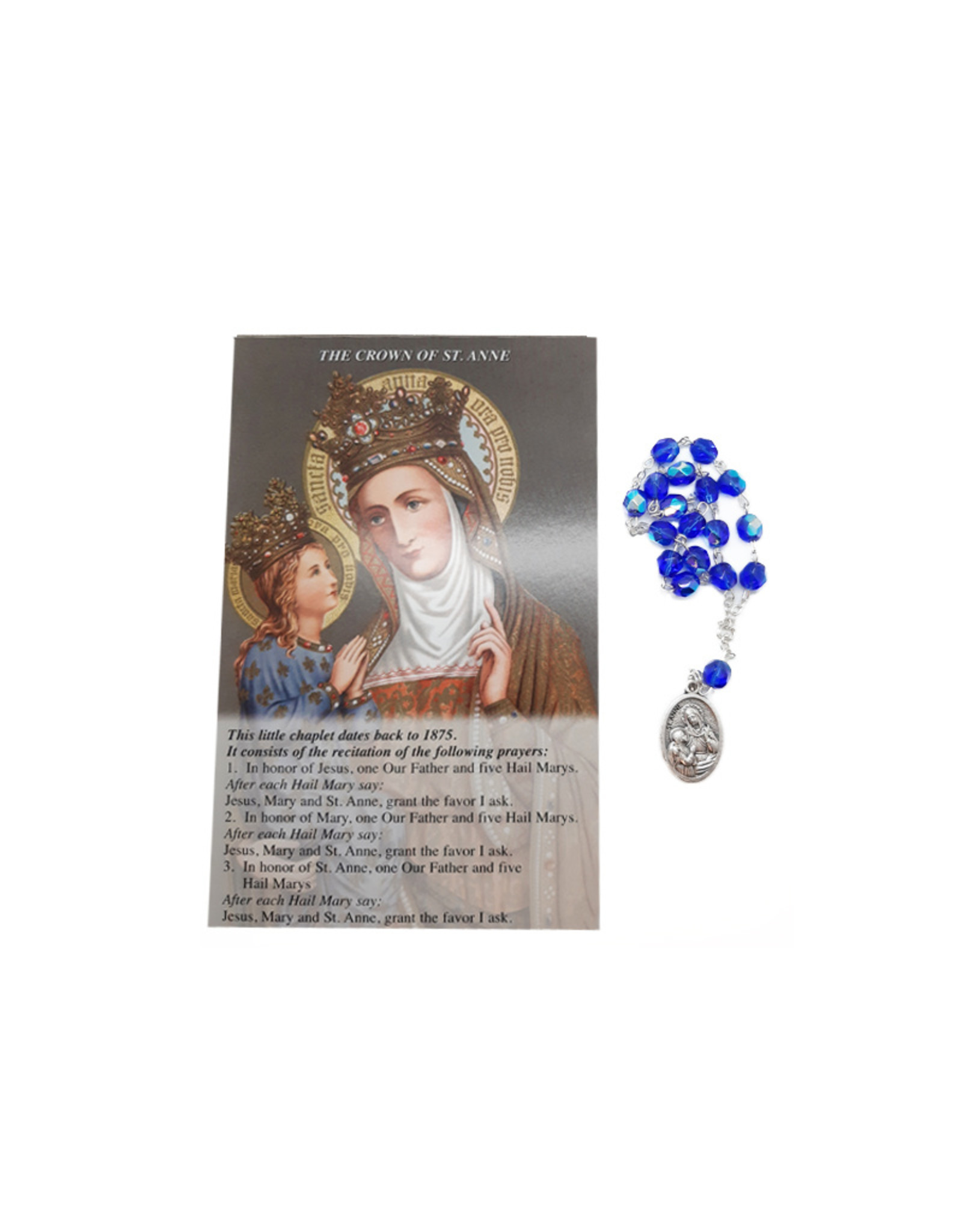 Saint Ann chaplet and prayer in 3 languages