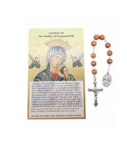 Dizainier Notre-Dame du Perpétuel-Secours et prière en 3 langues