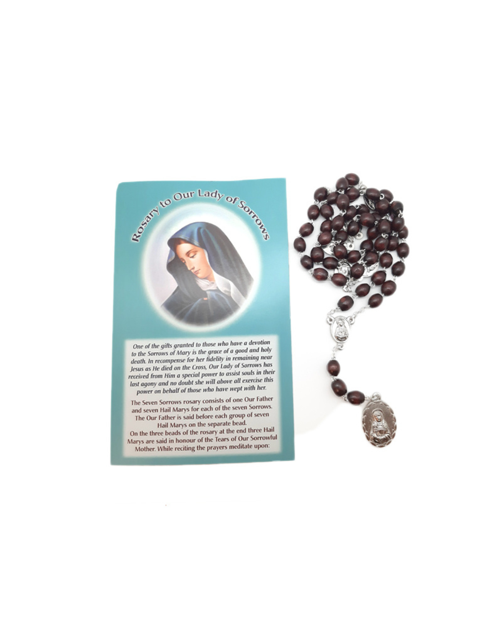 Chaplet of Our Lady of Sorrows and prayer in 3 languages