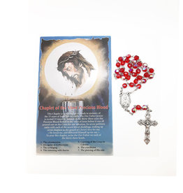 Most Precious Blood of Jesus chaplet and prayer in 3 languages