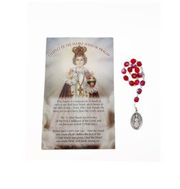 Jesus of Prague decade rosary and prayer in 3 languages