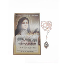 Saint Theresa chaplet and prayer in 3 languages