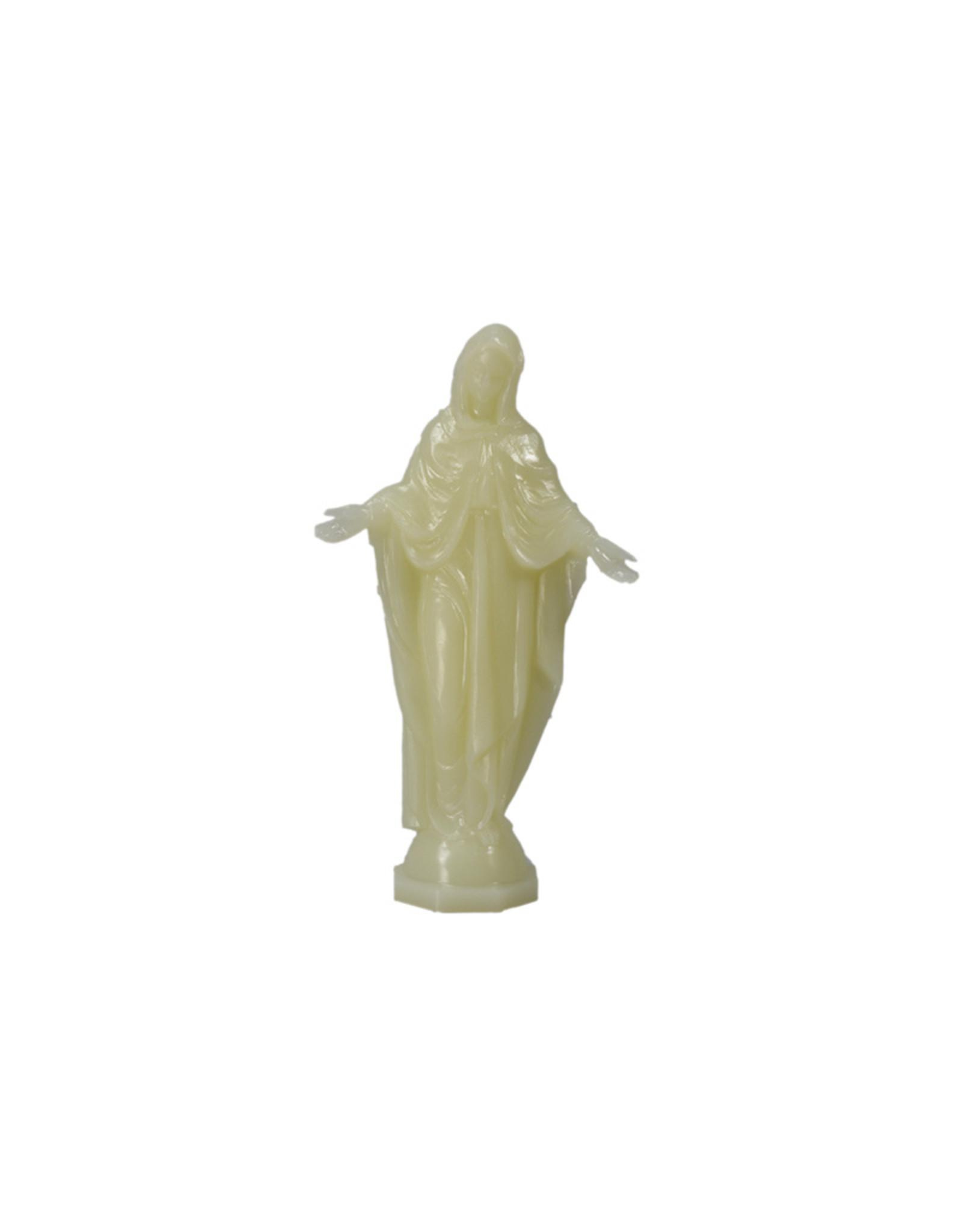 Phosphorescent Virgin Mary statue (15.5cm)