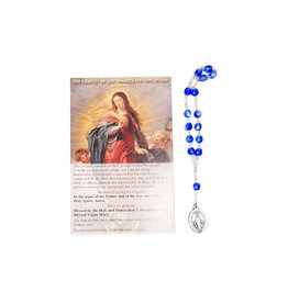 Immaculate Conception rosary with prayer in 3 languages