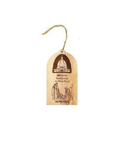 Ornement nativité et l'Oratoire bois d'olivier