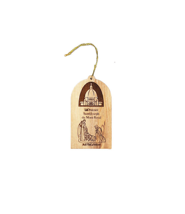 Nativity and Oratory olive wood ornament
