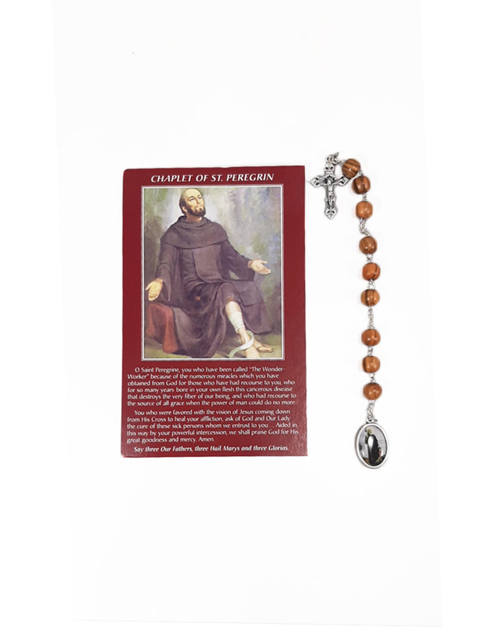 Dizainier de saint Pérégrin et prière en 3 langues