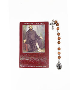 Saint Peregrine decade rosary and prayer in 3 languages