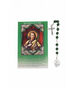 Dizainier saint Jude et prière en 3 langues