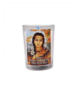 Chandelles Tradition / Tradition Candles Saint Kateri Tekakwitha votive lamp (french)