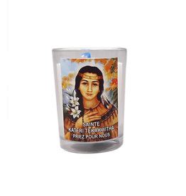 Chandelles Tradition / Tradition Candles Saint Kateri Tekakwitha votive lamp (french)