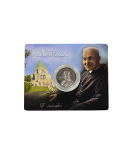 Souvenir medal card of the canonization of Saint Brother André