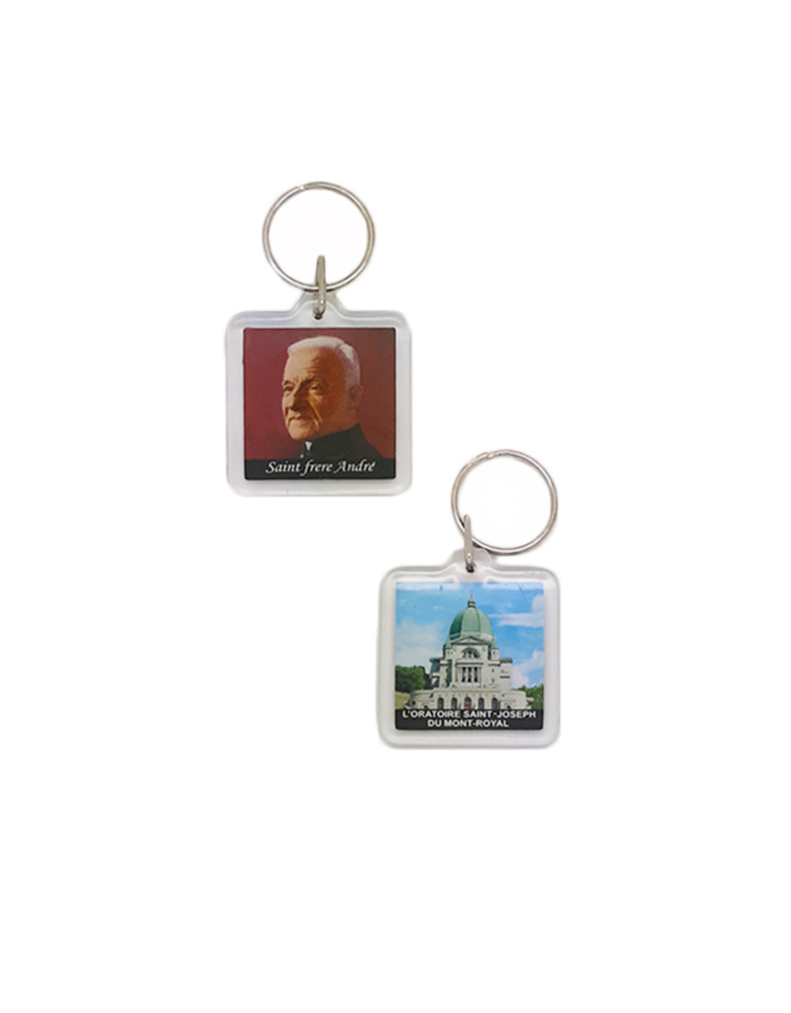Saint Brother Andre and Oratory keychain