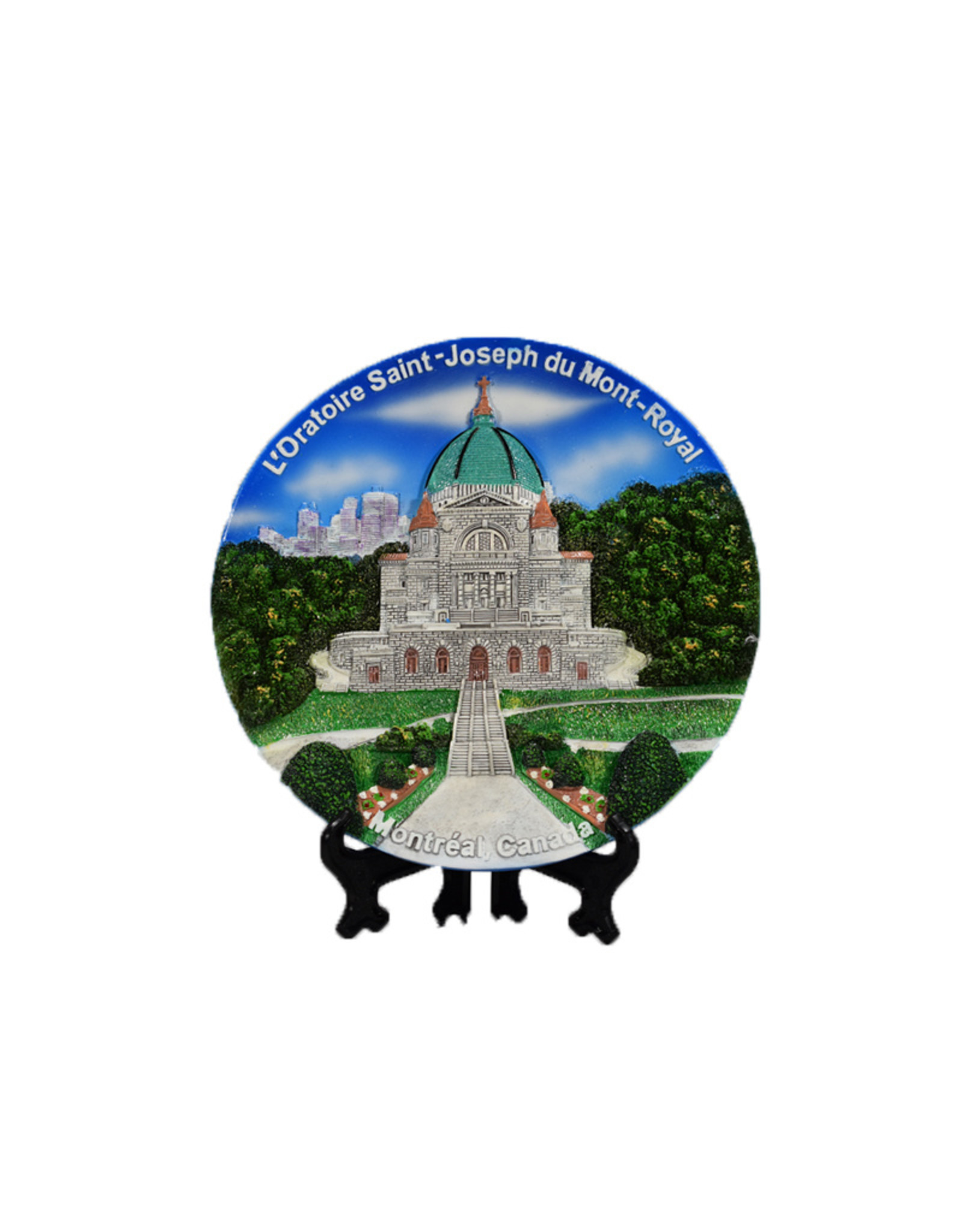 Decorative round plaque Saint Joseph's Oratory