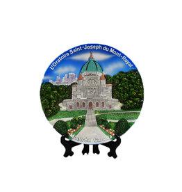 Plaque ronde décorative Oratoire Saint-Joseph