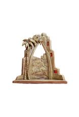 Crèche en résine finition bois sculpté (10pcs)