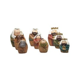 Nesting doll style Nativity scene (9 pcs)