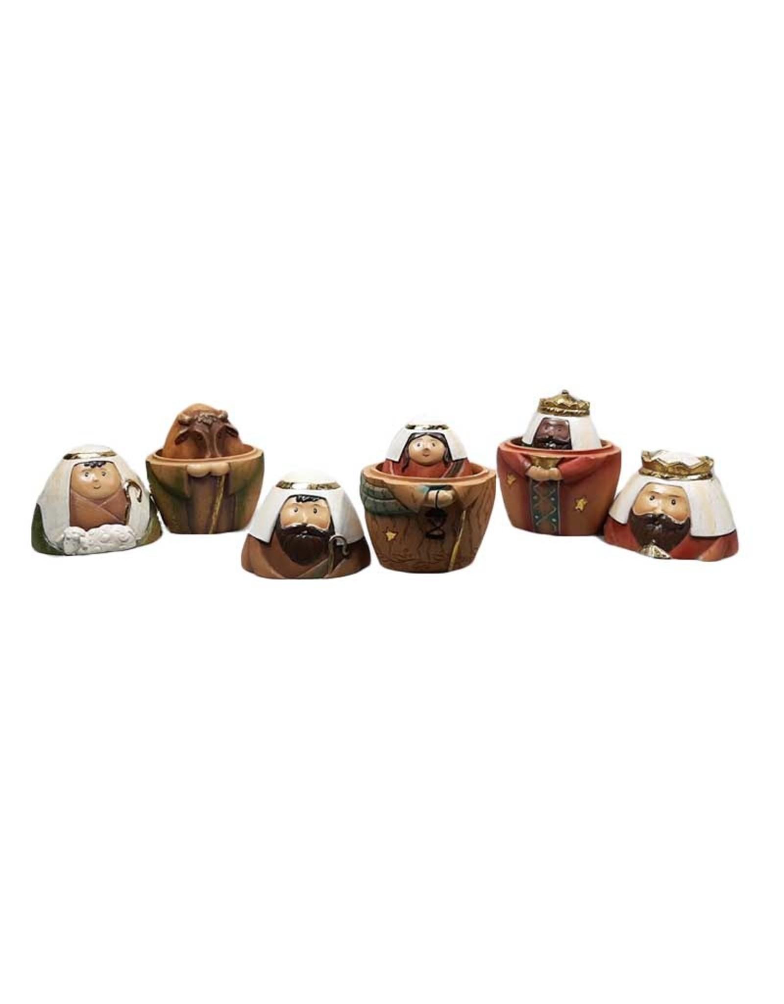 Crèche style poupées russes couleur (9 pcs)