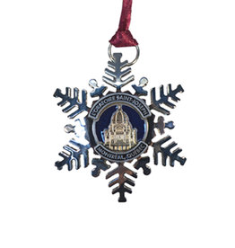 Oratory metal snowflake ornament