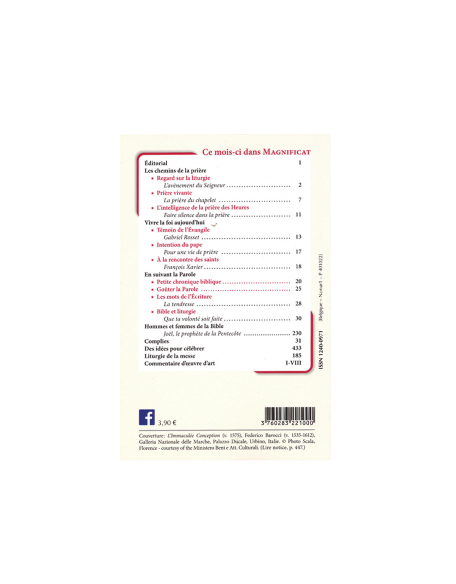 Éditions Magnificat Magnificat - Décembre 2020 (french)