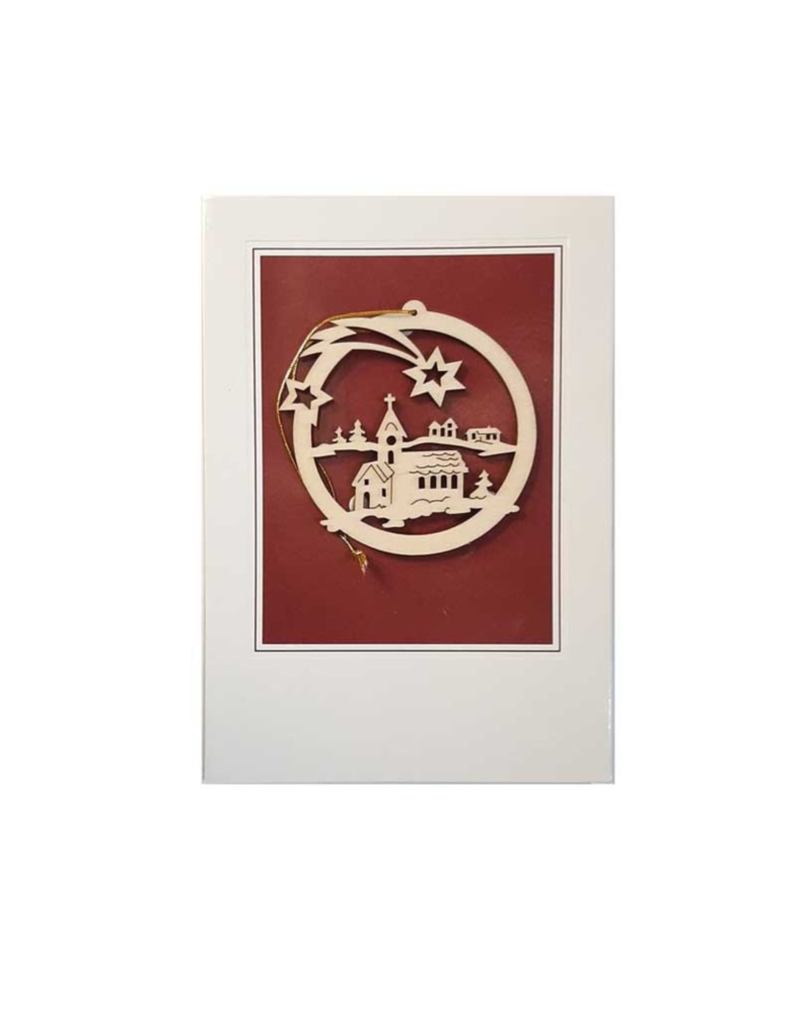 Christmas card with a wooden ornament (7 models)