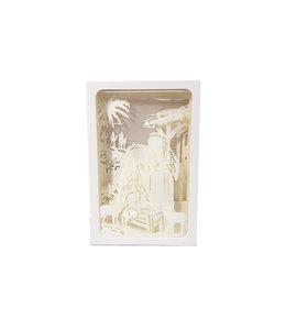 Backlit silhouette Nativity rectangular frame