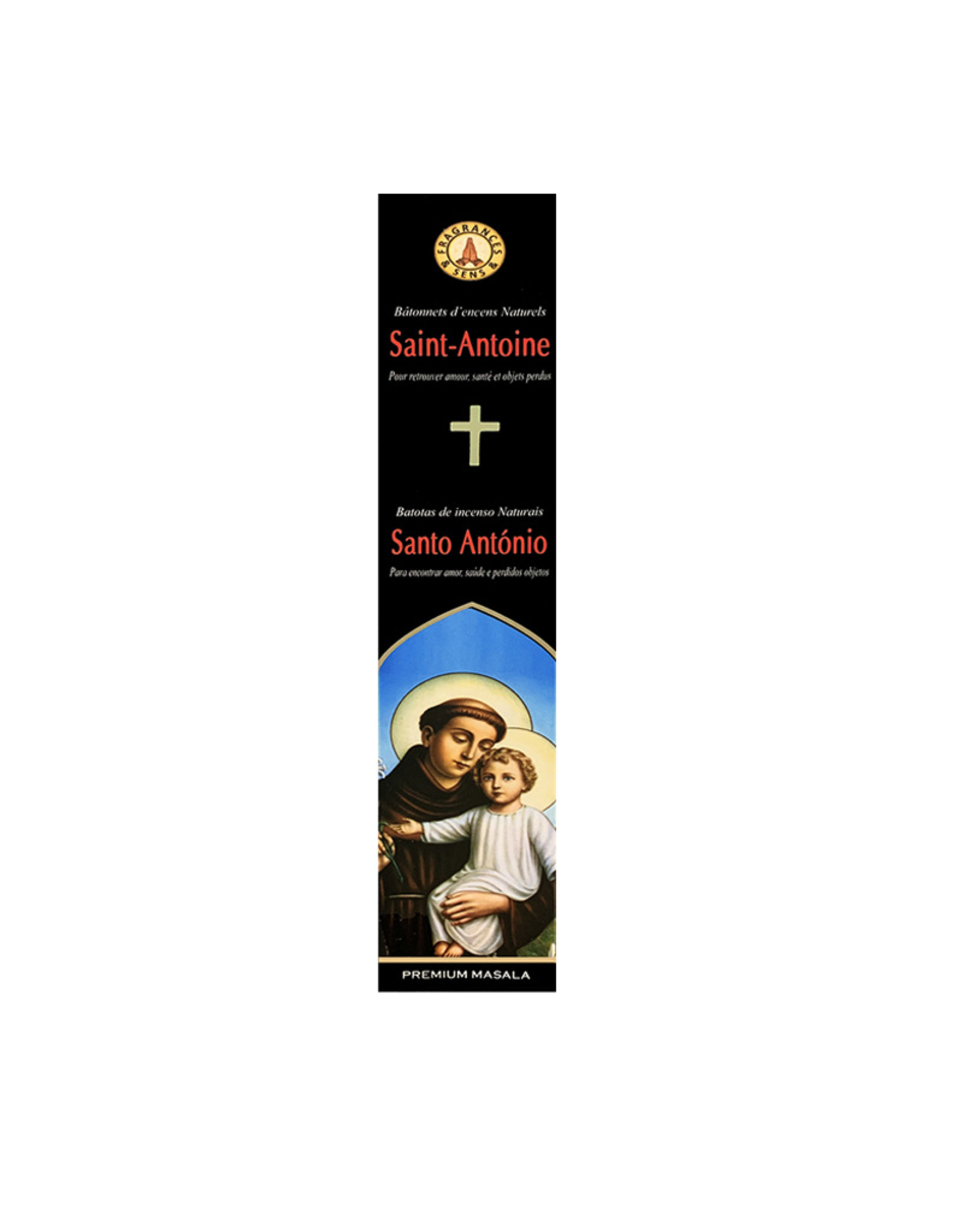 Fragrances & Sens Incense sticks Saint Anthony 12pcs 15g
