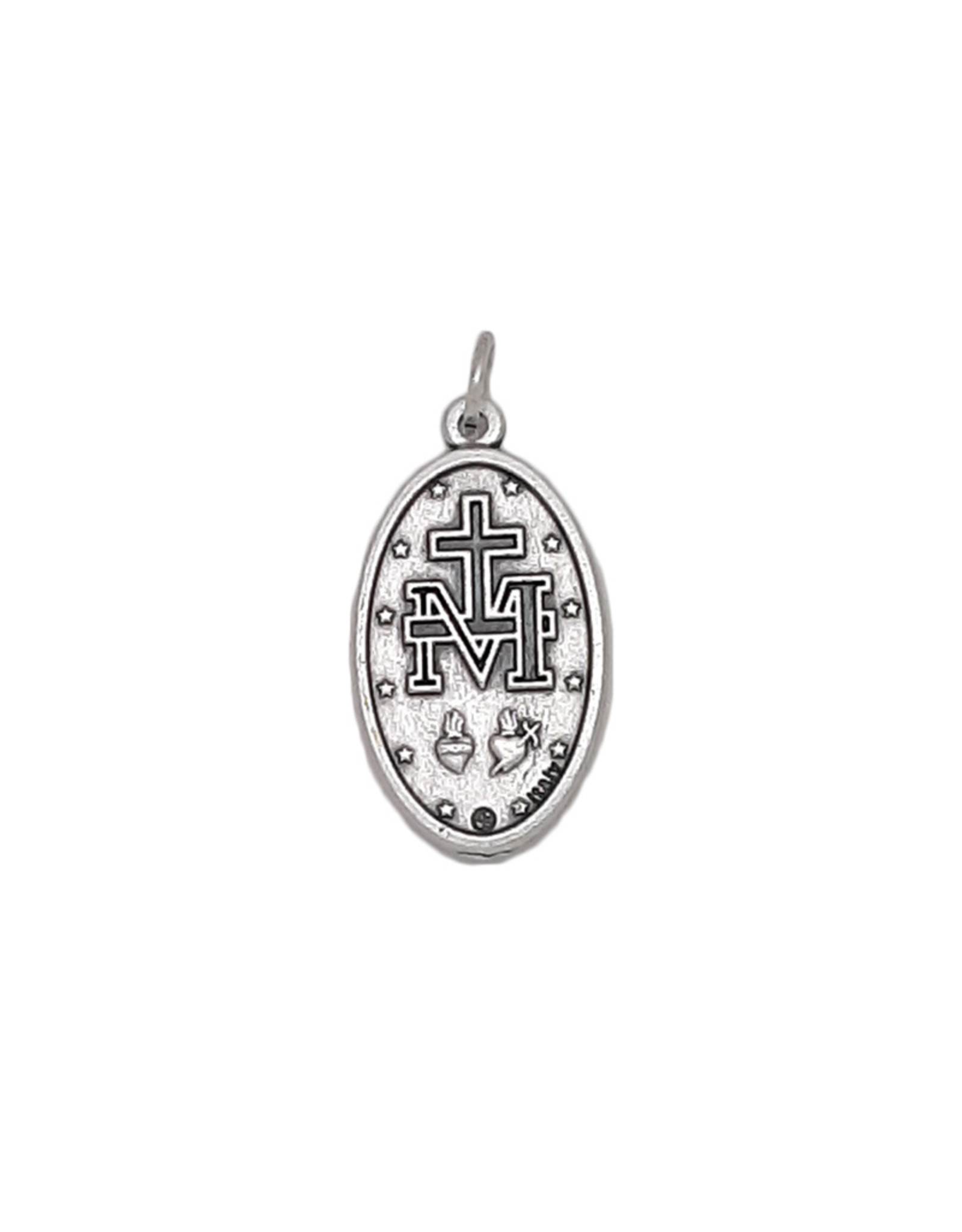 Miraculous Medal with blue enamel