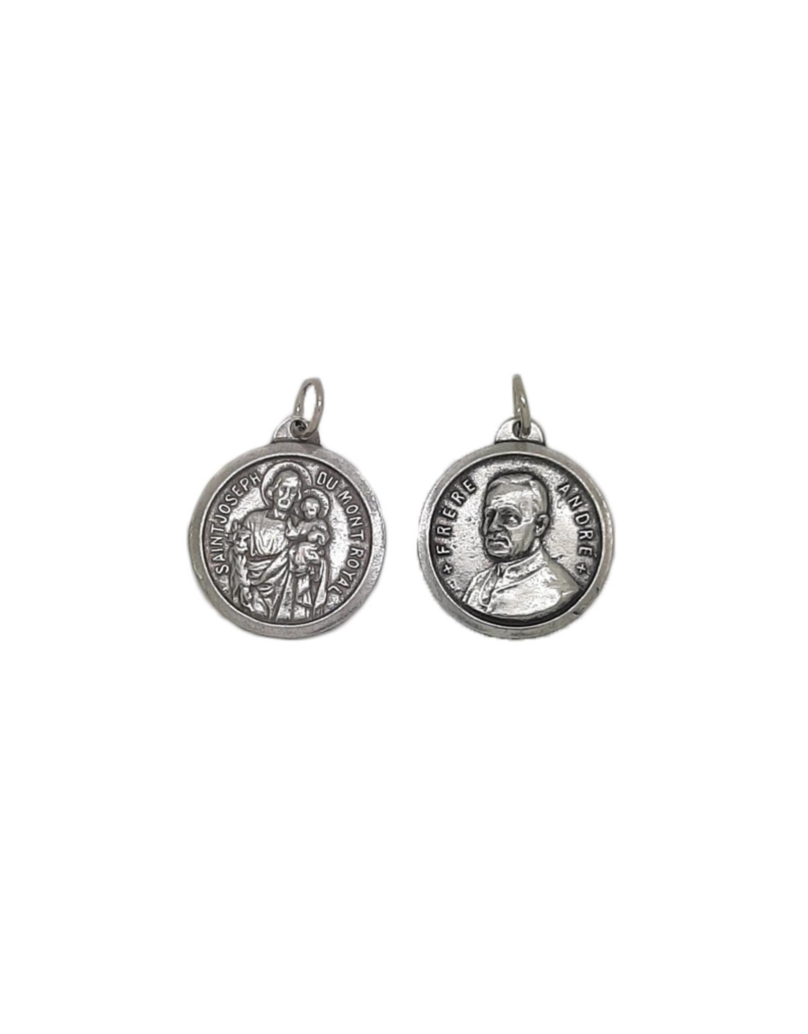 Large Saint Joseph and Brother André medal