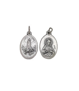 Medal of Our Lady of Fatima and Sacred Heart of Jesus