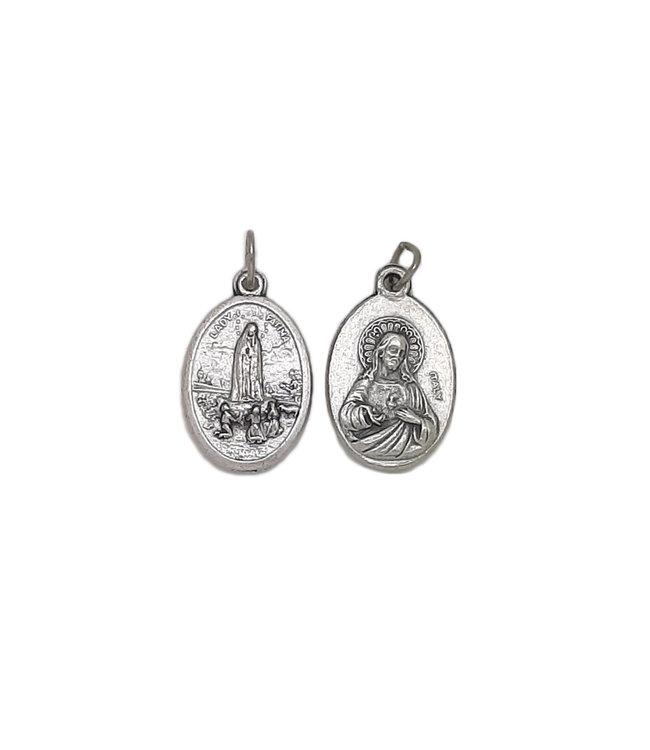 Médaille de Fatima et Sacré Coeur de Jésus