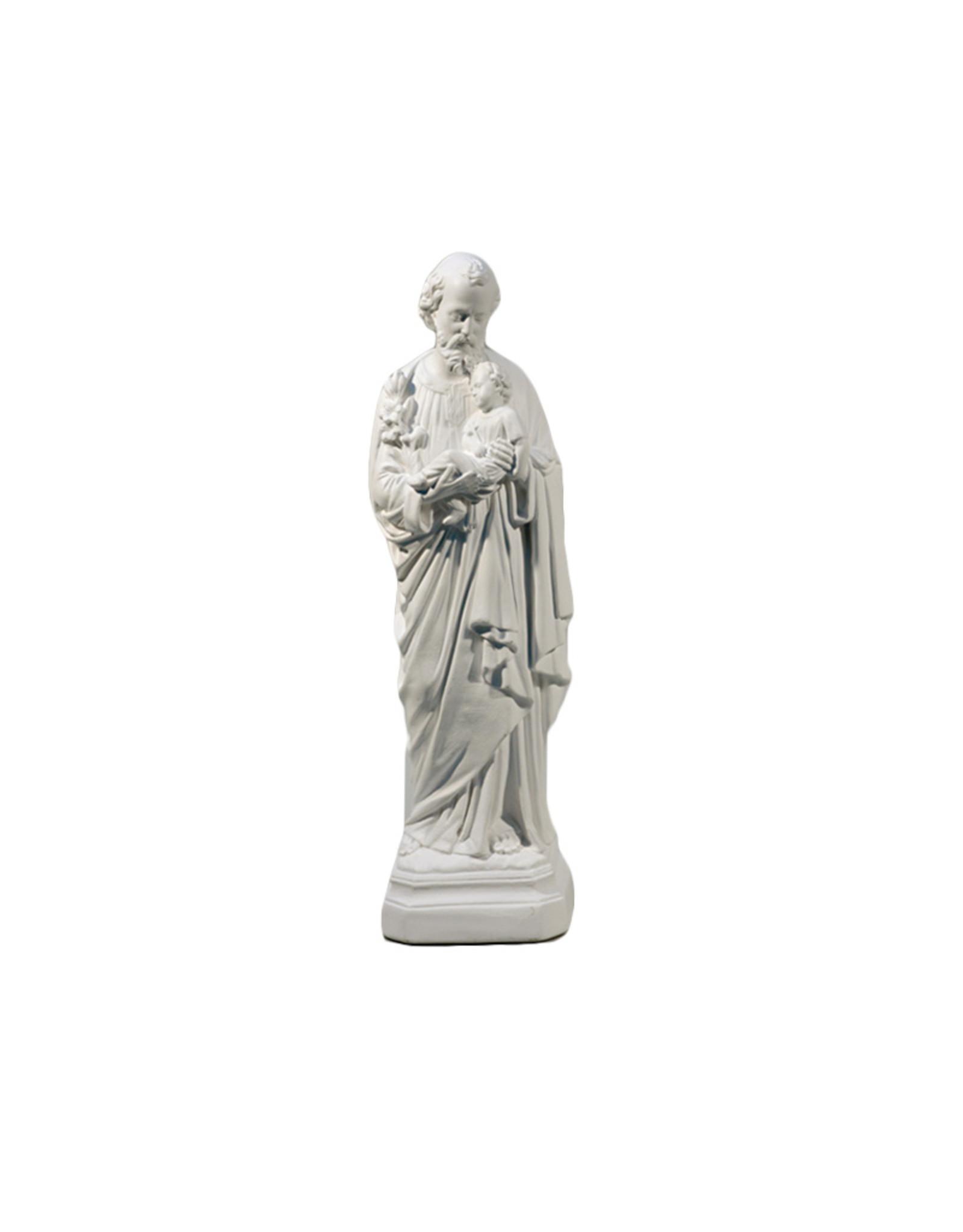 Saint Joseph White Statue