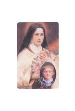 Carte avec prière en anglais, Sainte Thérèse