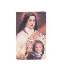 Saint Teresa prayer card