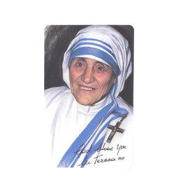Carte avec prière en anglais, Sainte Teresa de Calcutta