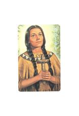 Saint Kateri prayer card