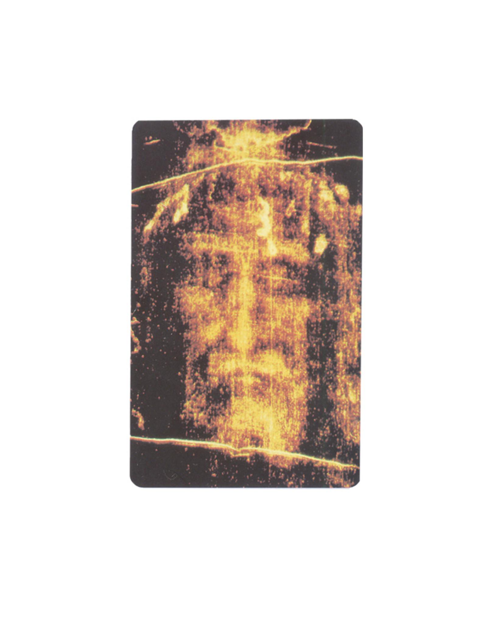 Carte avec prière en anglais Sainte Face