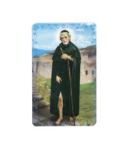 Carte avec prière en anglais, Saint Pérégrin