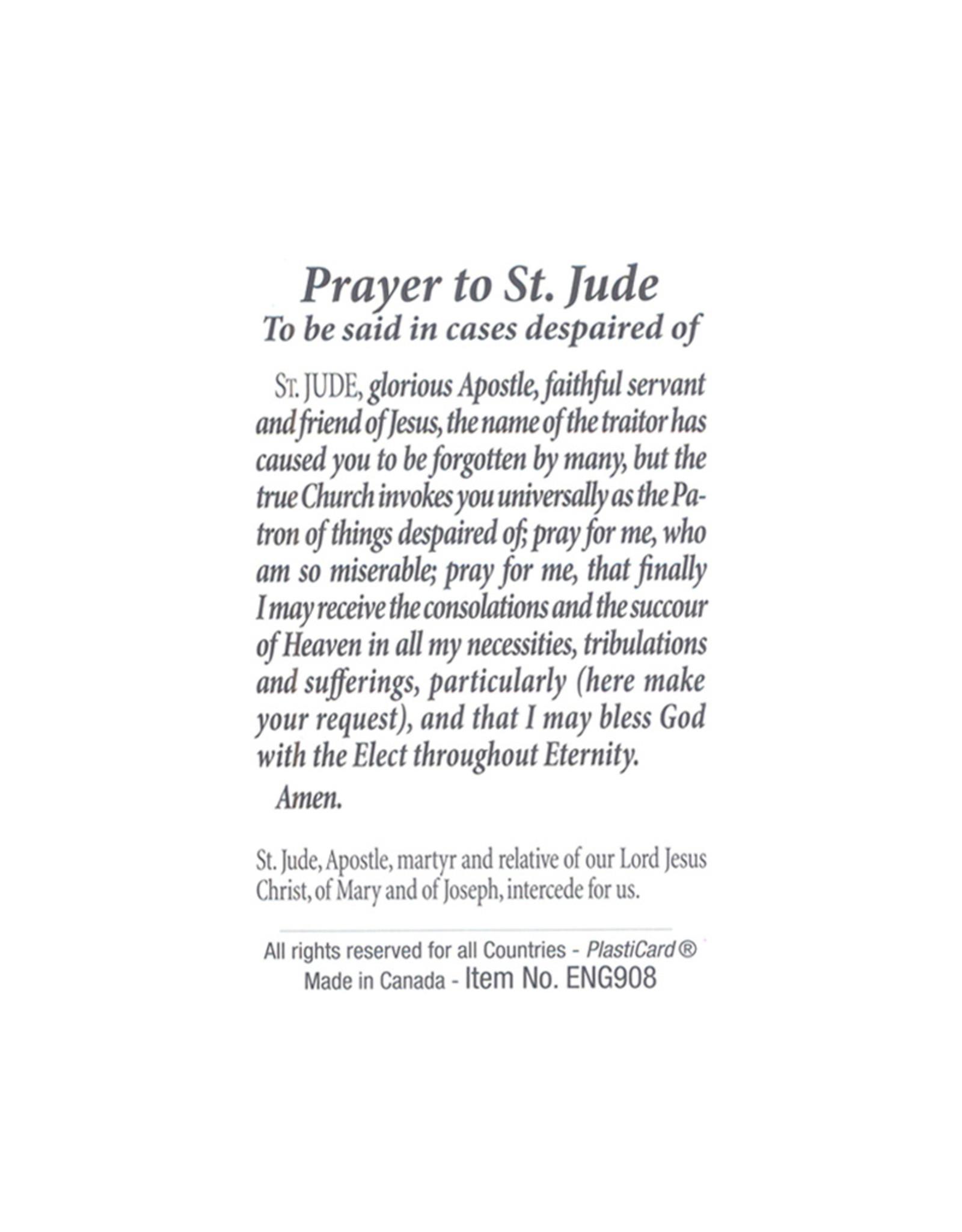 Saint Jude prayer card
