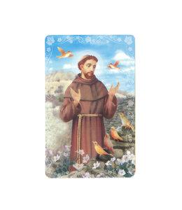 Carte avec prière en anglais, Saint François