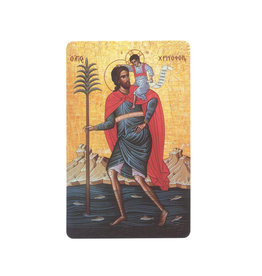Saint Christopher icon prayer card