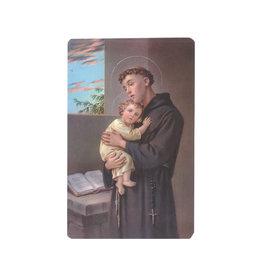 Carte avec prière en anglais, Saint Antoine