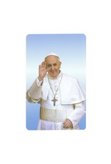 Pope Francis prayer card