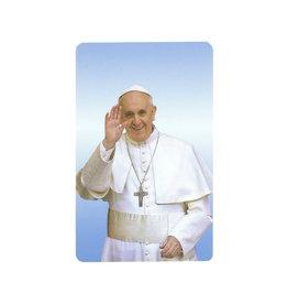 Carte avec prière en anglais, Pape François
