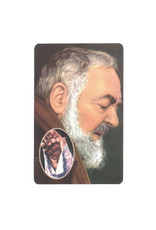Carte avec prière en anglais, Padre Pio