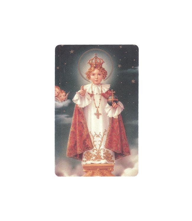 Jesus of Prague prayer card